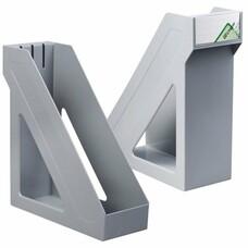 """Лоток вертикальный для бумаг СТАММ """"Базис"""", ширина 100 мм, серый, ЛТ31"""