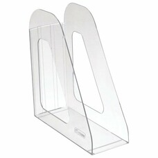 """Лоток вертикальный для бумаг СТАММ """"Фаворит"""", ширина 90 мм, прозрачный, ЛТ701"""