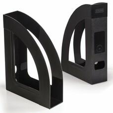 """Лоток вертикальный для бумаг СТАММ """"Респект-эконом"""", ширина 70 мм, полипропилен, черный, ОФ111"""