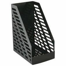 """Лоток вертикальный для бумаг СТАММ """"XXL"""", ширина 160 мм, полипропилен, черный, ОФ333"""