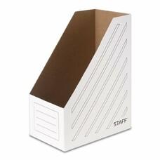 Лоток вертикальный для бумаг, микрогофрокартон, 150 мм, до 1400 листов, белый, STAFF, 128884