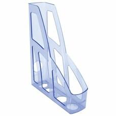 """Лоток вертикальный для бумаг СТАММ """"Лидер"""", ширина 75 мм, тонированный голубой, ЛТ125"""