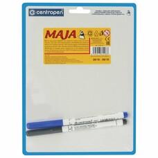 """Доска маркерная CENTROPEN """"Maja"""" (""""Майя""""), А5, 180*240 мм, двусторонняя, линия, 2 маркера, 7729"""