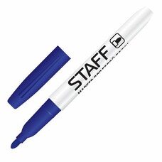 Маркер для доски STAFF, тонкий корпус, круглый наконечник 2,5 мм, синий, 151094