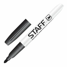 Маркер для доски STAFF, тонкий корпус, круглый наконечник 2,5 мм, черный, 151093