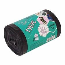 """Мешки для мусора 12 л, комплект 30 шт., ПНД, 32х55 см, 6 мкм, для урн d - 20 см, h - 26 см, черные, КБ """"Tubus"""", 3255"""