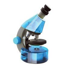 Микроскоп детский LEVENHUK LabZZ M101 Azure, 40-640 кратный, монокулярный, 3 объектива, 69301