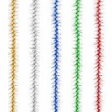 """Гирлянда """"Пушок"""", 1 штука, диаметр 50 мм, длина 2 м, ассорти 5 цветов, Г-201"""