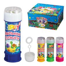 Мыльные пузыри ZIPPY, 60 мл, с игрушкой на крышке, 590606