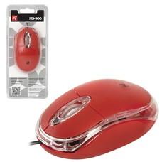 Мышь проводная DEFENDER MS-900, USB, 2 кнопки + 1 колесо-кнопка, оптическая, красная, 52901