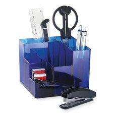 Канцелярский набор BRAUBERG, 9 предметов, вращающаяся конструкция, синий, картонная коробка, 224318
