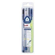 Набор STAEDTLER, ручка капиллярная, ручка шариковая, карандаш механический, текстмаркер, 34 SB4