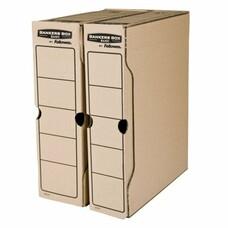 """Накопитель документов, лоток-коробка FELLOWES Bankers Box """"Basic"""", 100 мм, бурый, до 850 л., FS-00102"""
