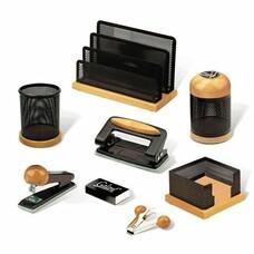 """Набор GALANT настольный """"Wood&Metal"""", 8 предметов, светлое дерево, черный металл, 230877"""