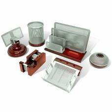 """Набор GALANT настольный """"Wood&Metal"""", 6 предметов, красное дерево, никелированный металл, 230876"""