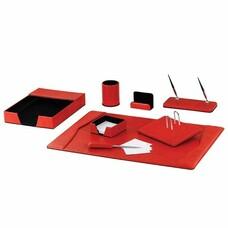 Набор GALANT настольный из экокожи, 8 предметов (под змеиную кожу, красный), 232283