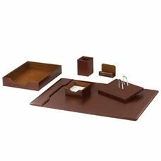 Набор GALANT настольный из экокожи, 6 предметов (под глянцевую кожу, коричневый), 232278