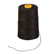 Нить лавсановая для прошивки документов BRAUBERG, диаметр 1 мм, длина 1000 м, ЧЕРНАЯ, ЛШ 210ч, 603771