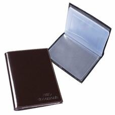 """Бумажник водителя BEFLER """"Classic"""", натуральная кожа, тиснение, 6 пластиковых карманов, коричневый, BV.1.-1"""