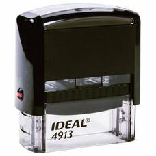 Оснастка для штампа, оттиск 58х22 мм, синий, TRODAT IDEAL 4913 P2, подушка, корпус черный, 125423