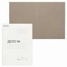 Папка Дело картонная (без скоросшивателя) BRAUBERG, гарантированная плотность 280 г/м2, до 200 листов, 122293