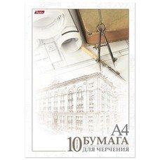 "Папка для черчения HATBER, А4, 210х295 мм, 10 л., без рамки, 190 г/м2, ""Архитектура"", 10Бч4A 11033, А111253"