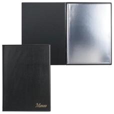 "Папка ""Меню"" с 10 файлами, 220х320 мм, черная, ""ДПС"", 2137.М-107"