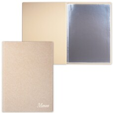 "Папка ""Меню"" с 10 файлами, 220х320 мм, бежевая, ""ДПС"", 2137.М-105"