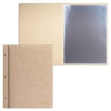 "Папка ""Меню"" на трех винтах, с 10 файлами, 220х320 мм, бежевая, ""ДПС"", 2273.М-105"