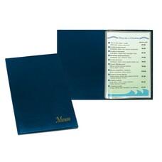 """Папка """"Меню"""" с 10 файлами, 220х320 мм, синяя, """"ДПС"""", 2137.М-101"""