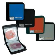 Портмоне для CD/DVD BRAUBERG на 24 диска, обложка пластиковая, ассорти, 510029