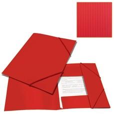 "Папка на резинках BRAUBERG ""Contract"", красная, до 300 листов, 0,5 мм, бизнес-класс, 221798"