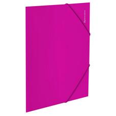 """Папка на резинках BRAUBERG """"Neon"""", неоновая, розовая, до 300 листов, 0,5 мм, 227462"""