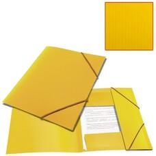 "Папка на резинках BRAUBERG ""Contract"", желтая, до 300 листов, 0,5 мм, бизнес-класс, 221800"