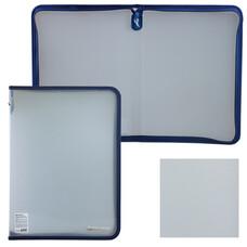 Папка на молнии пластиковая, А4, объемная, 335х240х20 мм, прозрачная диагональ, BRAUBERG, 226036
