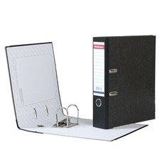 """Папка-регистратор ERICH KRAUSE, с мраморным покрытием, """"содержание"""", 70 мм, черный корешок, 4672"""