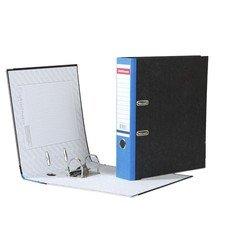 """Папка-регистратор ERICH KRAUSE, с мраморным покрытием, """"содержание"""", 70 мм, синий корешок, 408"""