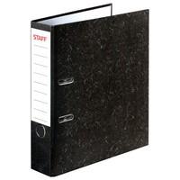 """Папка-регистратор STAFF """"Бюджет"""" с мраморным покрытием, 70 мм, без уголка, черный корешок, 227185"""