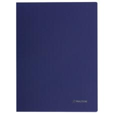 """Папка с боковым металлическим прижимом и внутренним карманом BRAUBERG """"Диагональ"""", темно-синяя, до 100 листов, 0,6 мм, 221357"""