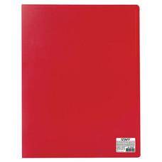 Папка 20 вкладышей STAFF, эконом, красная, 0,5 мм, 225694