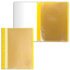 Папка 10 вкладышей STAFF с перфорацией, мягкая, желтая, 0,16 мм, 224973