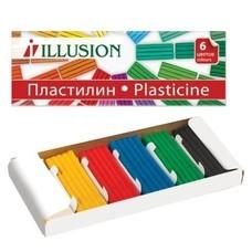 """Пластилин классический ГАММА """"Illusion"""", 6 цветов, 84 г, картонная упаковка, 280004"""