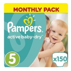 "Подгузники 150 шт., PAMPERS (Памперс) ""Active Baby"", размер 5 (11-18 кг), PA-81603992"