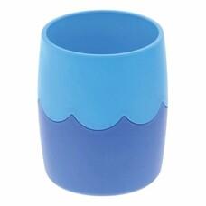 Подставка-органайзер СТАММ (стакан для ручек), сине-голубая, непрозрачная, СН505