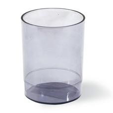 """Подставка-органайзер СТАММ """"Офис"""" (стакан для ручек), 70х70х90 мм, тонированная, серая, СН15"""
