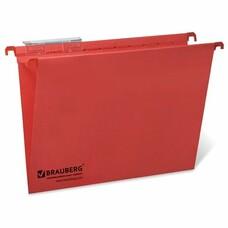 Подвесные папки картонные BRAUBERG(Италия), комплект 10 шт., 315х245 мм, до 80 л., А4, красные, 230 г/м2, табуляторы, 231792
