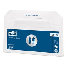 Покрытия на унитаз TORK (Система V1), 1/2 сложения, 250 штук, 37х42 см, Advanced, белые, 750160