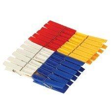 Прищепки бельевые, комплект 24 шт., универсальные, пластиковые, цвет ассорти, IDEA, М 2235