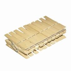 """Прищепки бельевые деревянные, комплект 20 шт., универсальные, YORK """"Eco"""", 96050"""