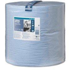 Бумага протирочная TORK (Система W1), 1000 листов в рулоне, 34х36,9 см, 2-слойная, голубая, высокой прочности, 130070